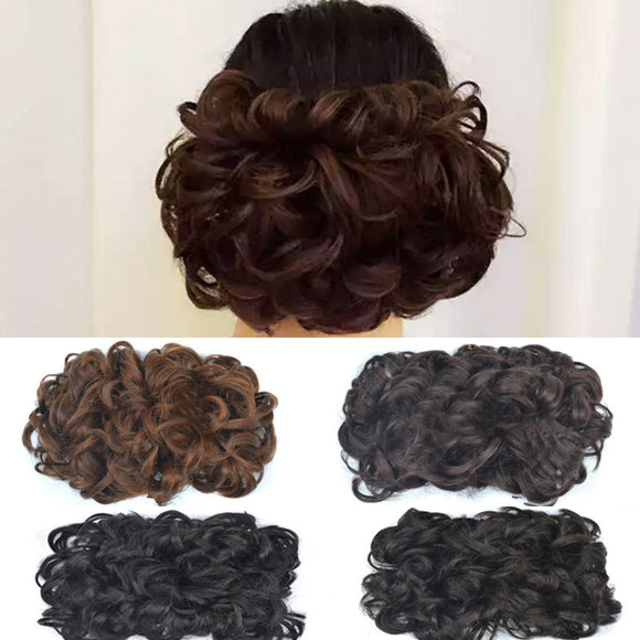 Retro Fluffy Synthetic Chignon With Drawstring Hair Piece