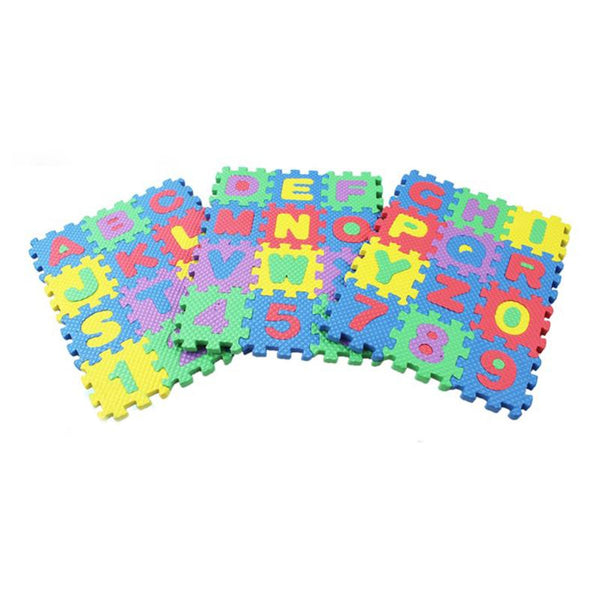 36pcs/set Of Baby Puzzle Game Education Alphanumeric Bubble Play Protection Pad