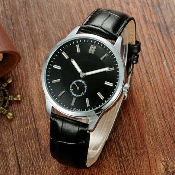 Men Fashionable Ultrathin Soft Watchband Casual Quartz Watch