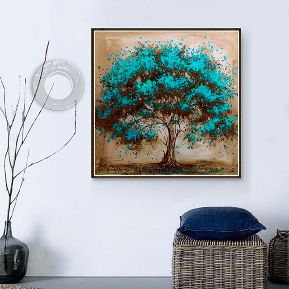 5d Diy Diamond Painting Color Tree Mosaic Painting Landscape Embroidery Cross Stitch Crafts