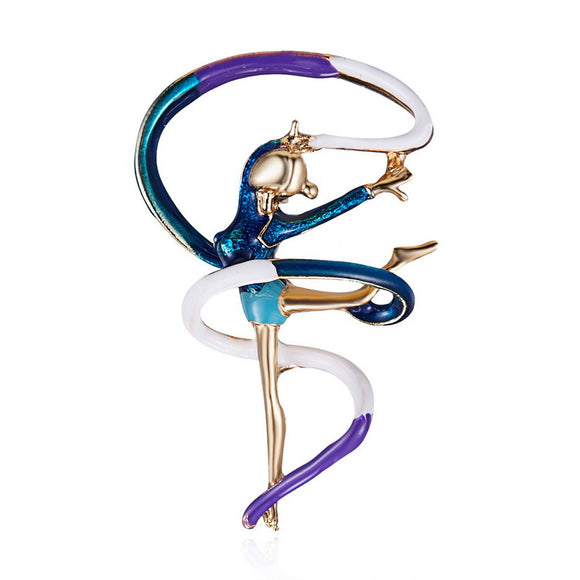 Fashion Creative Little Girl Gymnastics Alloy Brooch