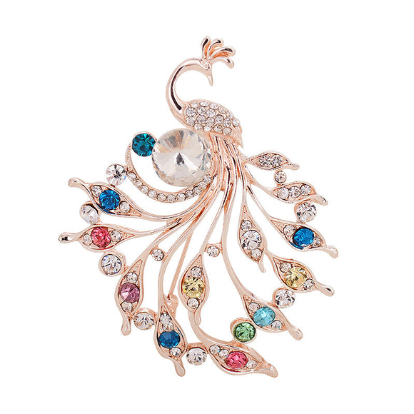 Fashion Lady Animal Brooch Peacock Brooch