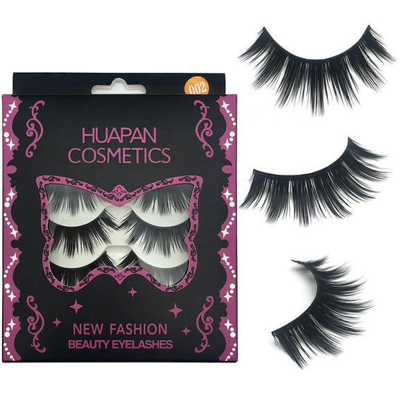 5 Pairs Of Thick Slender 3d False Eyelashes