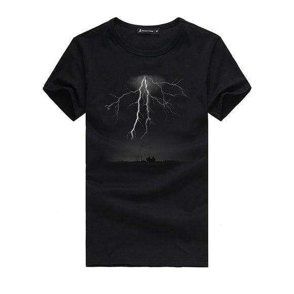 Men's Summer Lightning Printed Short Sleeve T-shirt