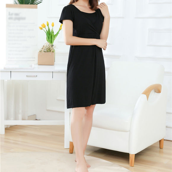 Moms V-Neck Summer maternity clothes Maternity Dresses Breastfeeding Clothes For Pregnant Nursing