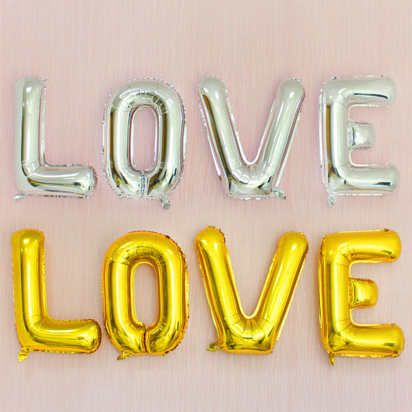 30 Inch Love Letter Balloon Wedding Party Decoration Love Aluminum Film Balloon