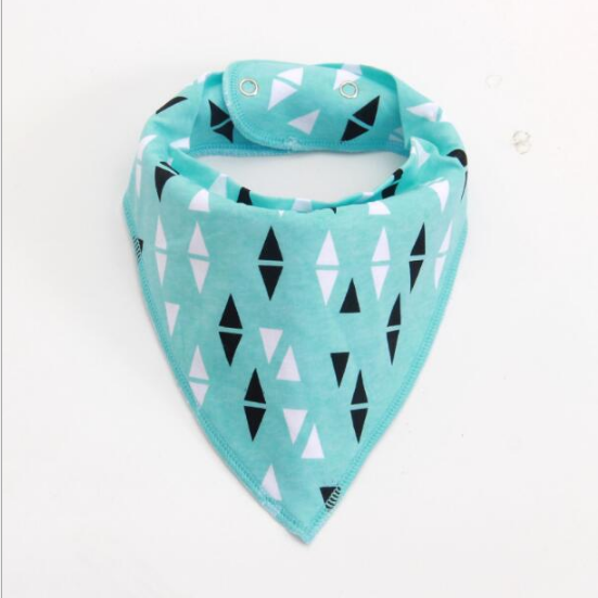 NEER Muslin life 2pcs/lot bibs burp cloth print triangle baby bibs cotton bandana accessories