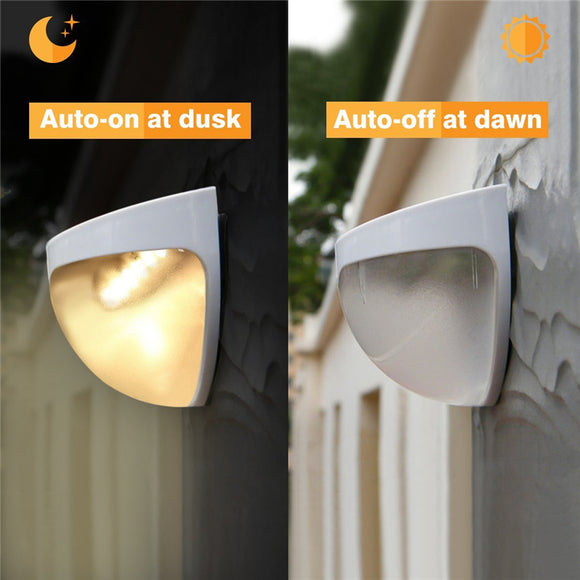 Solar Power Light Sensor 6 Led Wall Light Outdoor Garden Fence Waterproof Lamp