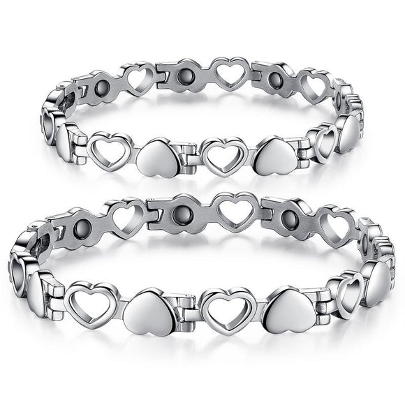 1PC Fashion Simple Hollowed Love-shaped Lovers Bracelet