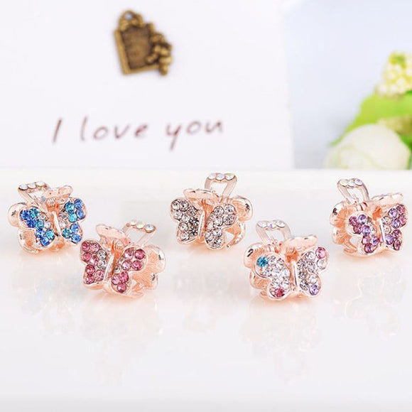 Children's Mini Creative Butterfly Love Crown  Hairpins Hair Clips  Hair Accessories
