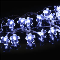 1.2 Meters 10 Plum Blossom Battery Boxes Led Lights Holiday Party Indoor Courtyard Decoration
