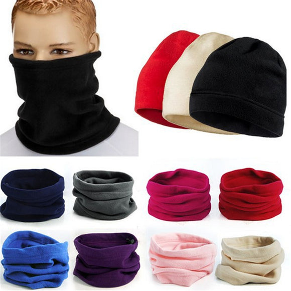 Outdoor Fleece Bib Men And Women Set Head Collar Winter Multi-function Hood Warm Mask Hat
