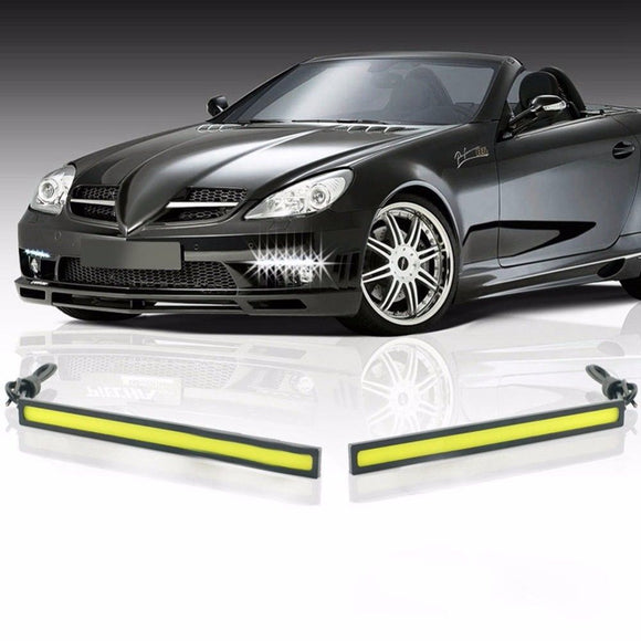 2 PCS 17cm Car Led Cob Drl Daytime Running Light 12v External Led Car Light Fog Light