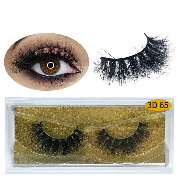 A Pair Of Natural Thick False Eyelashes