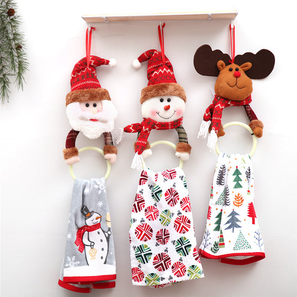Christmas Decorations Christmas Clothes Napkin Circle Home Pendant Towel Ring Creative Dress Up