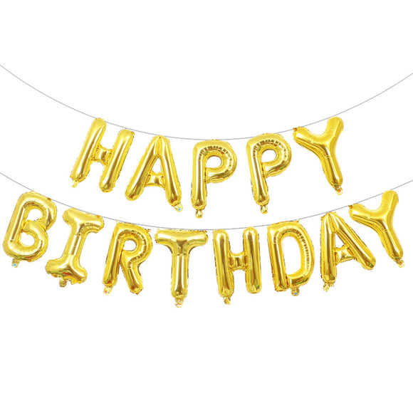 16 Inch Happy Birthday Letter Foil Balloon Birthday Party Decoration
