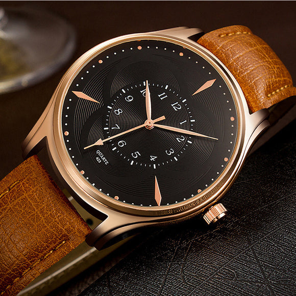 Fashion Business Soft Watchband Casual Quartz Watch For Men