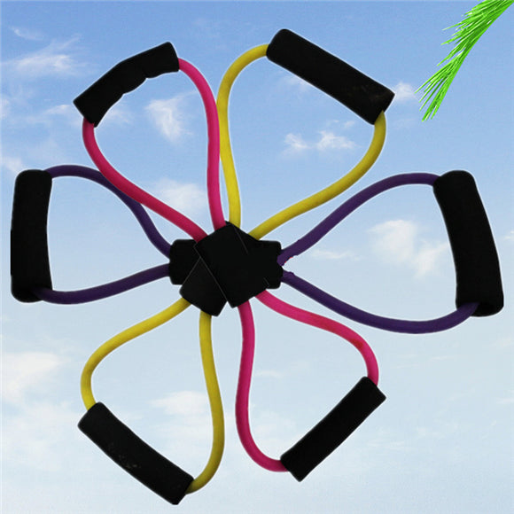 NEER 2pcs Yoga Rubber Elastic Eight Character Pull Rope
