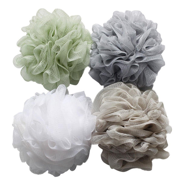 Bath Sponge Mesh Pouf Shower Ball