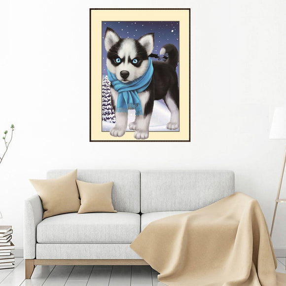 3d Diy Diamond Painting Cartoon Puppy Embroidery Cross-stitch Handicraft Ornaments Mosaic Painting