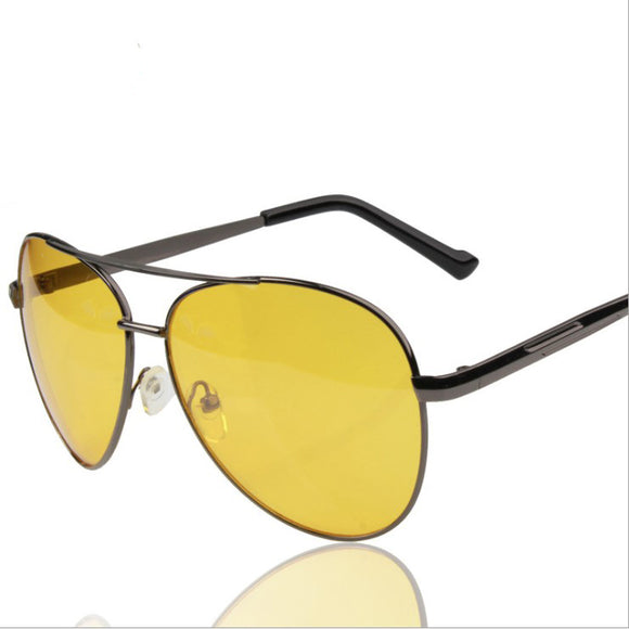 Classic Anti Glare Driver Safety Sunglasses Night Vision Sunglasses Yellow Lens