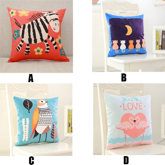 Cushion Covers Cotton Linen Cartoon Cushion Pillow Cover Sofa Bed Nordic Decorative Pillow Case