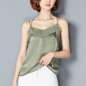 Women Tank Top Sleeveless Blouse Casual Shirt Tops Sexy V-Neck Lace Vest