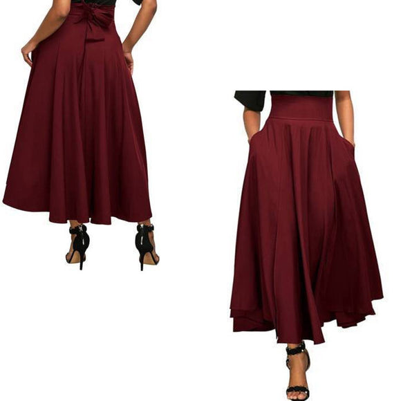 Thin Solid Color Strap Vintage Skirt Dress