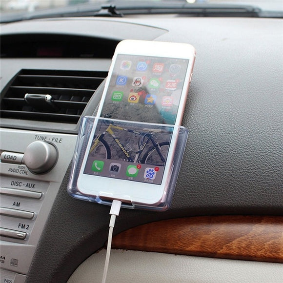 universal multifuntion car card sundries phone lucency storage box/case provid charging hole