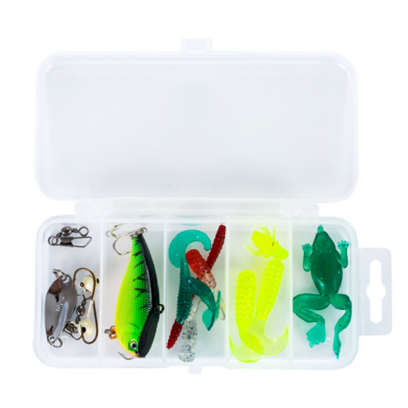 15 Pieces Of Fresh Water And Seawater Fish Bait Set
