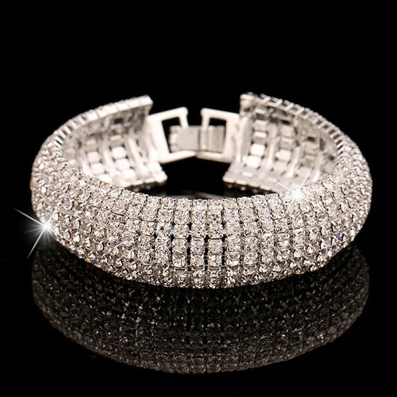 1PC Luxury Fashion Women's Rhinestone Bracelet