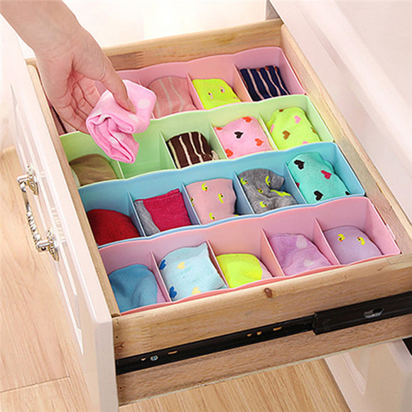 Five Candy Color Five Compartment Underwear Socks Classified Storage Boxes