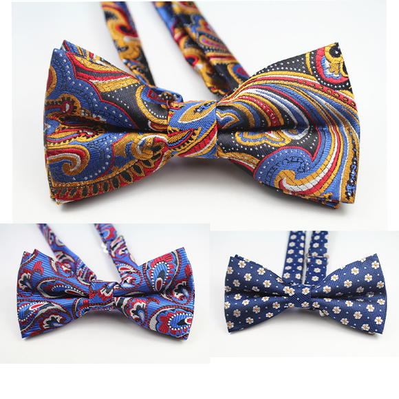 Fashion Bow Ties Floral Print Bow Tie For Men Suit Accessories
