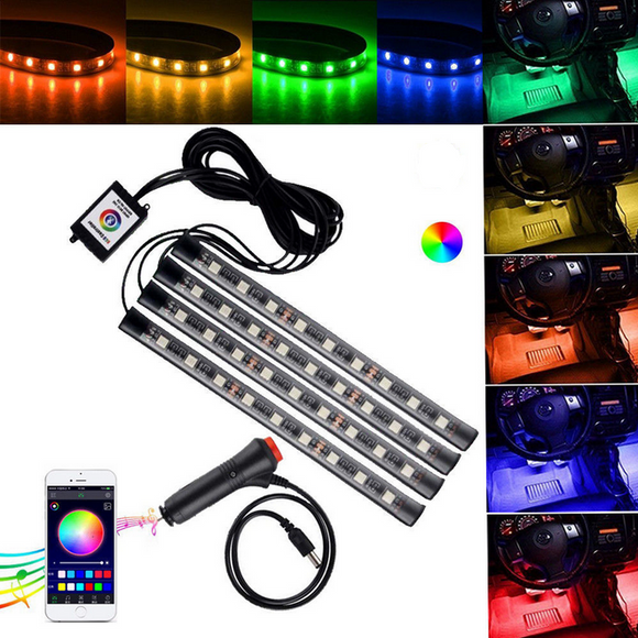 4 * 9 Pieces Car Appled Lamp Strip Smd 5050 W Decoration Car Decoration Atmosphere 10 Car Floor Stre