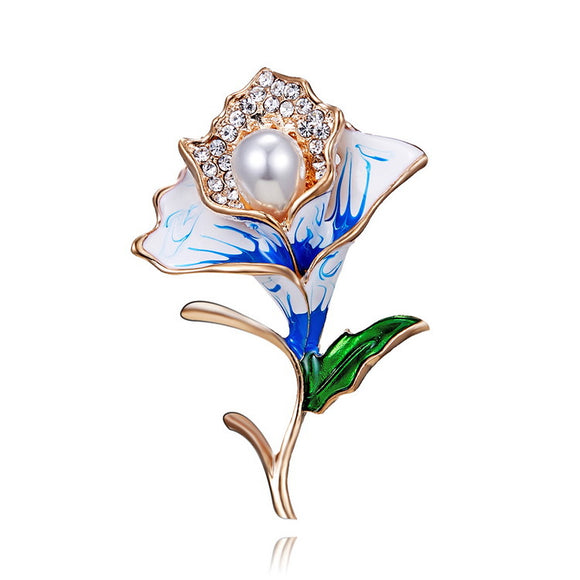 Premium Elegant Flower Alloy Brooch