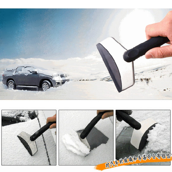 New Useful Car Windshield Snow Removal Scraper Ice Shovel Window Cleaning Tool