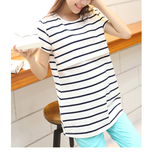 Maternity Breast Feeding Vest Elastic Cotton Nursing Tank Tops Pregnant Breastfeeding Shirts Tees