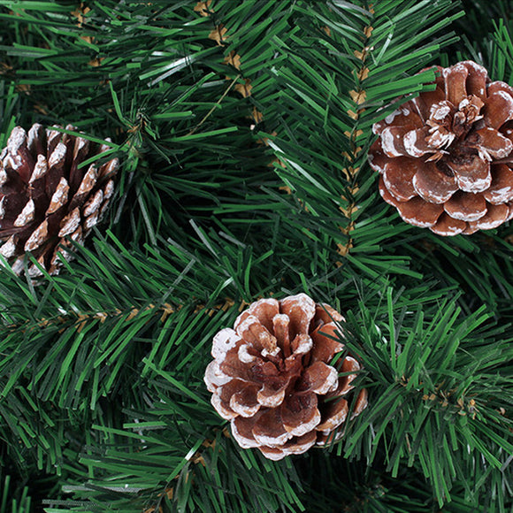 6PCS Christmas Tree Pendant Natural Color Pine Cone 4-5cm Christmas Venue Layout