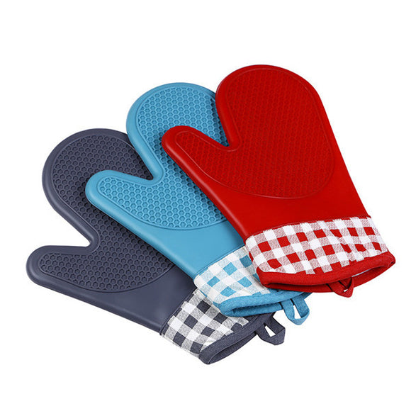 1pcs 300°C Silicone High Temperature Oven Microwave Oven Special Gloves For Baking