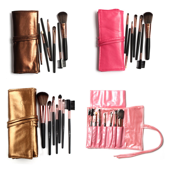 Special Offer 7Pcs Pro Eye Makeup Brushes Set Eyebrow Eyeshadow Lip Brush Tools Kit With Bag