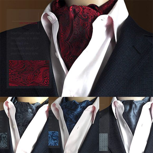Men Fashion Floral Ties Party Elegant Dress Shirt Cravat
