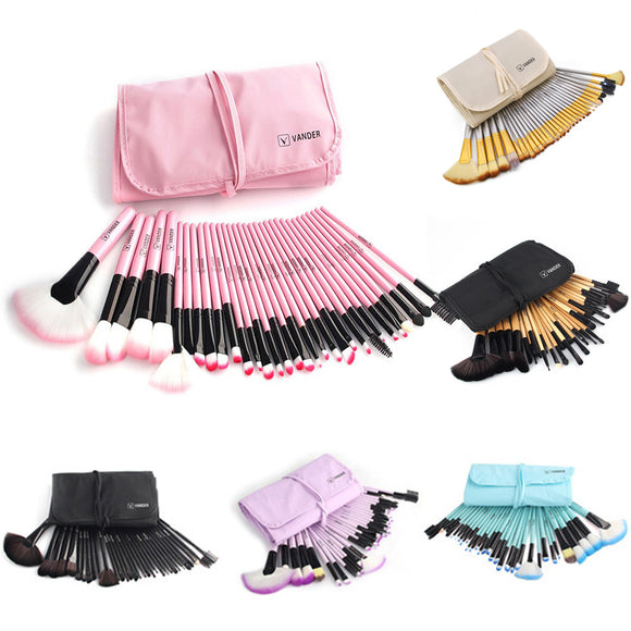 32Pcs Makeup Brushes Set Professional Powder Eyeshadow Concealer Foundation Tool