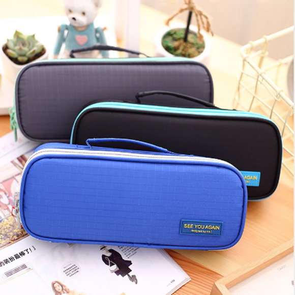 Pencil Case Zipper Pencil Case Large Capacity Strong And Durable Washable Pencil Case Office Supplie