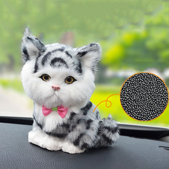 Activated Carbon Simulation Cat In Addition To Odor Bamboo Charcoal Lucky Cat Ornaments