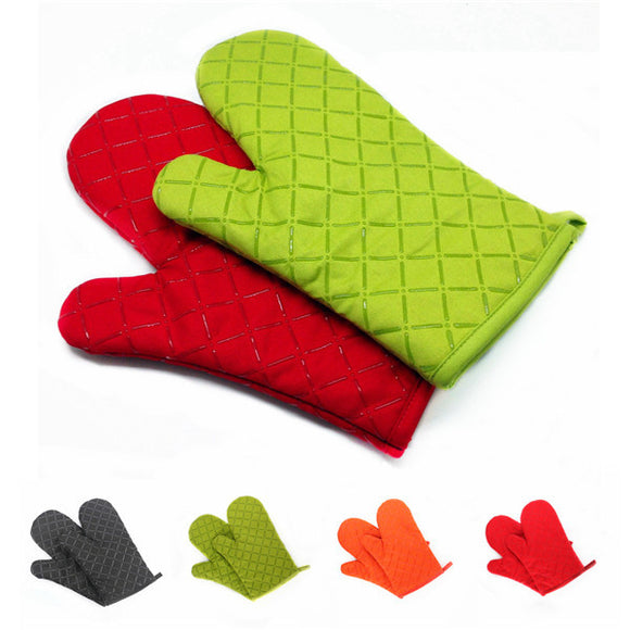 1pcs 200°C Silicone High Temperature Oven Microwave Oven Special Gloves For Baking