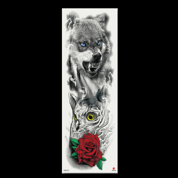 48X17CM Big Body Art Waterproof Tattoo Stickers Full Arm Temporary Tattoo for Men and Women