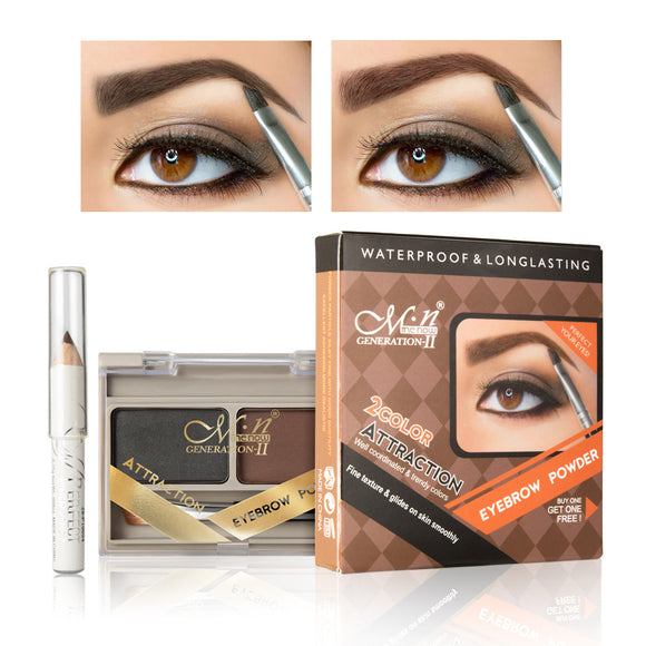 Waterproof Natural Stereo Eyebrow Powder, Get Eyeliner Free