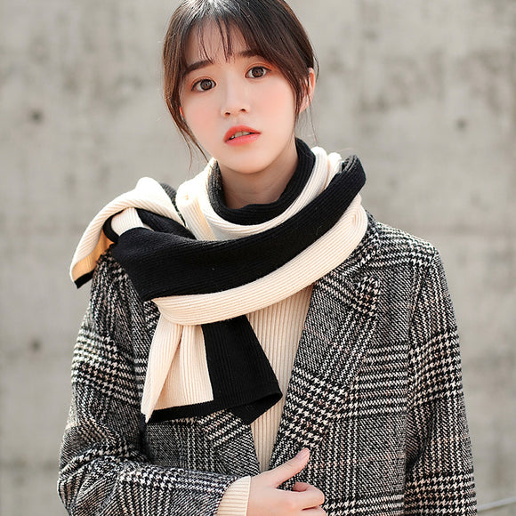 Autumn And Winter Women's Double Color Warm Scarf