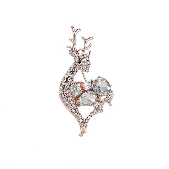 Women Deer Brooch Clothes Accessory