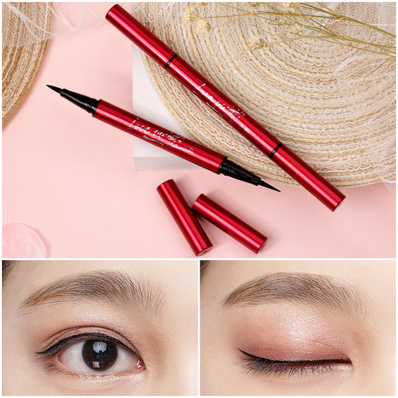 Waterproof And Durable Not Dizzy Makeup Double-headed Eyeliner